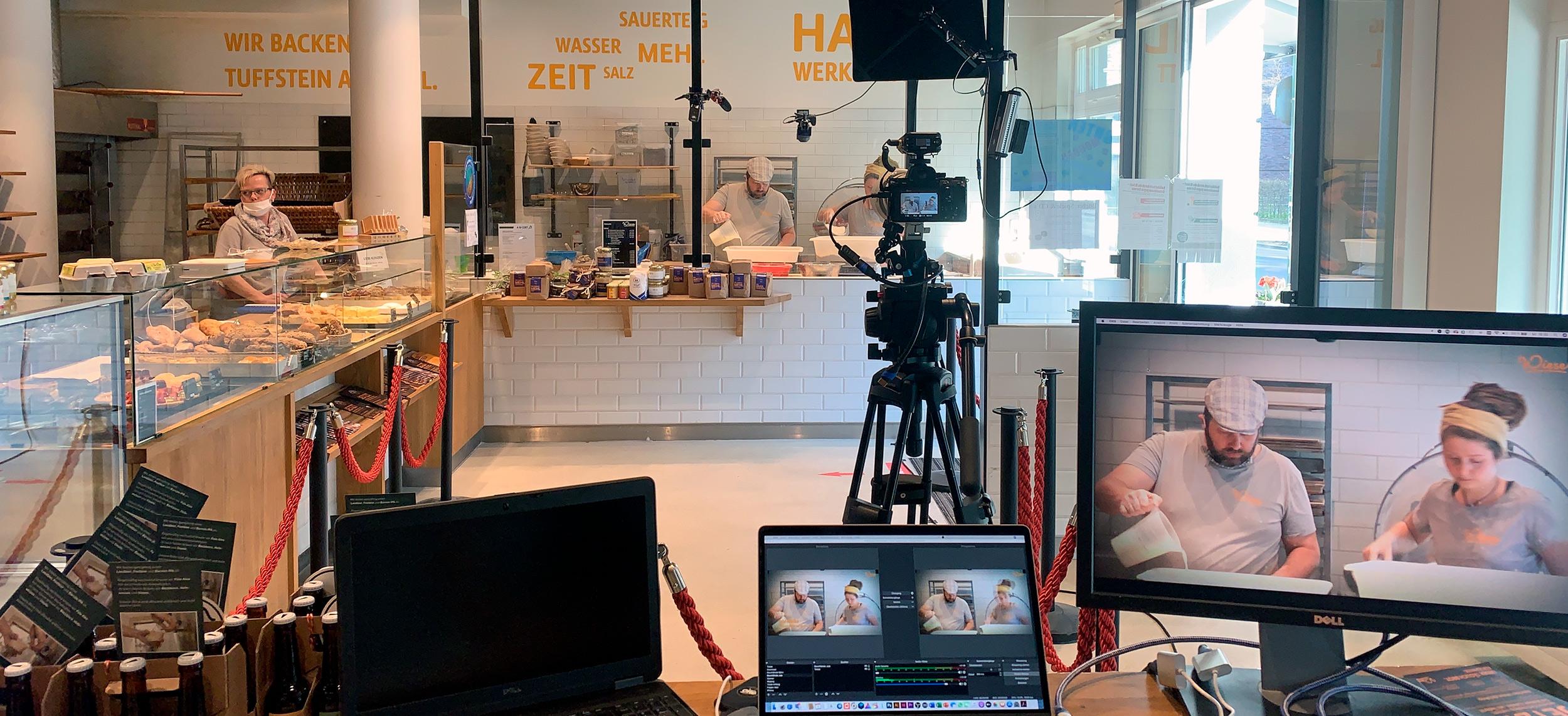 Livestreaming Bäckerei Wiese
