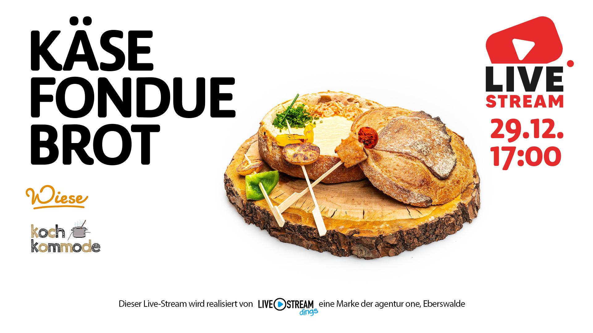Livestreaming Bäckerei Wiese Käse Fondue